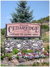 Cedaredge Entrance Sign